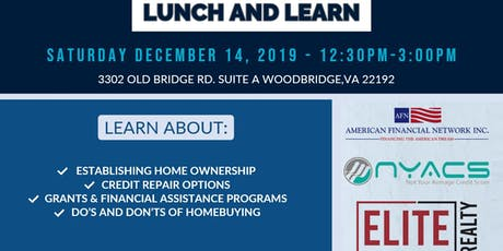 Homebuyer Lunch and  Learn - A New Year Path To a New Home! tickets