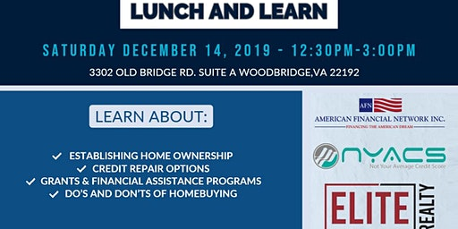 Homebuyer Lunch and  Learn - A New Year Path To a New Home!