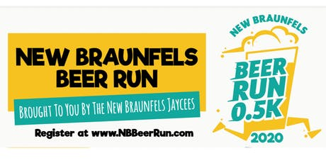 New Braunfels Jaycees 0.5K Beer Run 2020 tickets