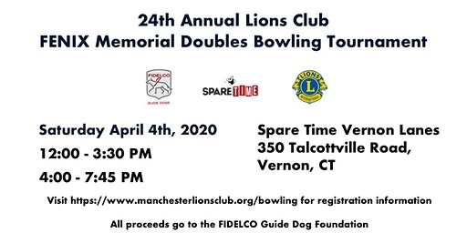 24th Annual Lions Club FENIX Memorial Doubles Bowling Tournament