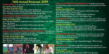 Kwanzaa, 2019 -2020 tickets
