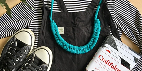 Upcycled Woven Jewellery at Scrap tickets
