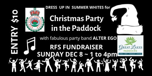 Summer White Christmas Party in the Paddock - RFS Fundraiser V2