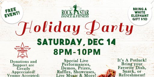 Rock Star Dance & Fitness Holiday Party!