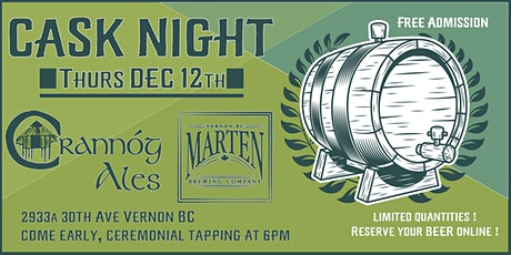 Kilted Cask Night With Crannóg Ales At Marten Brewing Co. tickets
