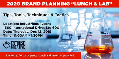 Brand Planning Lunch and Lab tickets