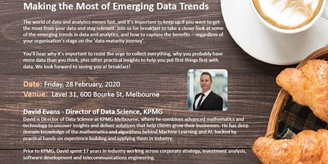 Making the Most of Emerging Data Trends tickets