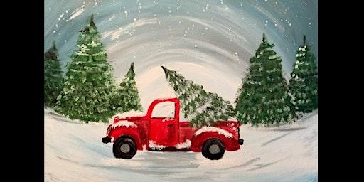 Christmas Vintage Truck Paint & Sip
