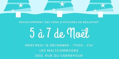 5 à 7 de Noël du Regroupement des gens d'affaires de Beauport billets