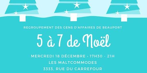 5 à 7 de Noël du Regroupement des gens d'affaires de Beauport