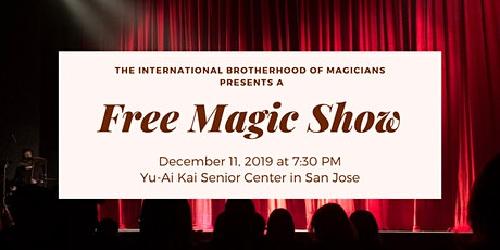 Free Magic Show presented by the International Brotherhood of Magicians tickets