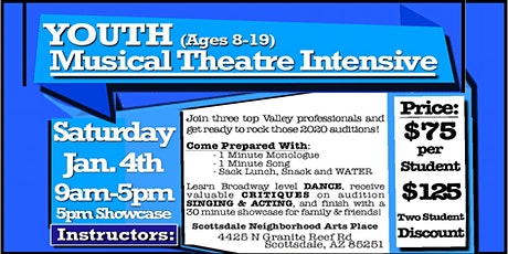 YOUTH, Musical Theatre Intensive tickets