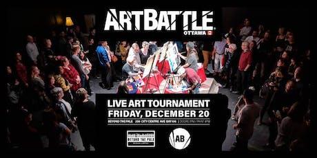 Art Battle Ottawa: Capital Collaboration - December 20, 2019 tickets
