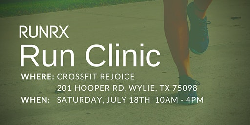 RunRX Clinic Dallas 2020 (July)