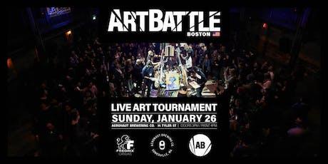Art Battle Boston - January 26, 2020 tickets