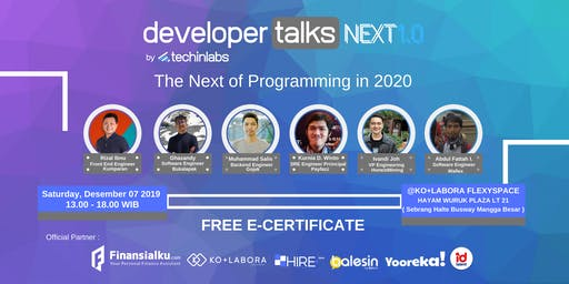 Developer Talks Next 1.0 : The Next of Programming in 2020