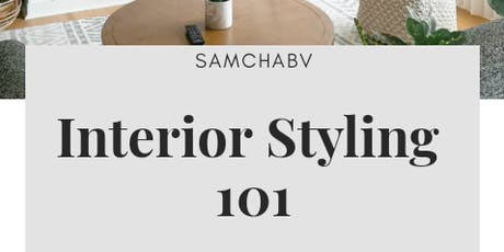 Interior Styling 101 for beginners tickets