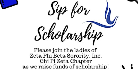 Sip for Scholarship tickets