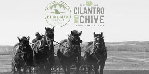 Blindman Beer Dinner at Cilantro and Chive