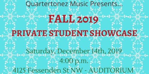 Quartertonez Music Fall 2019 Private Student Showcase Performance