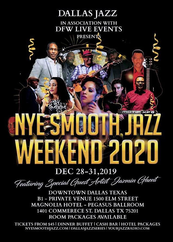 NYE Smooth Jazz Dallas 1 2-30-19. Greg Manning/Jeff Ryan/Rob Holbert plus image