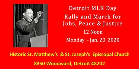 17th Annual Detroit MLK Day Rally & March tickets