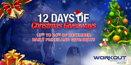 12 Days of Christmas Giveaways 13th to 24th December 2019 tickets
