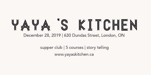 Yaya's Kitchen December Supper Club