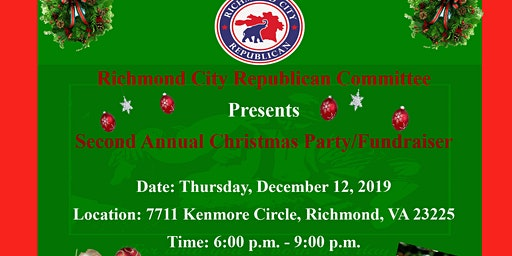 Richmond City Republican Committee Annual Christmas Party/Fundraiser