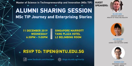 Master of Science in Technopreneurship & Innovation (Information Session) tickets