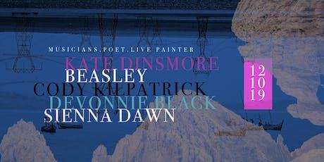 The Round (175) featuring musicians Kate Dinsmore, Beasley, Cody Kilpatrick, guest+ spoken word poet Devonnie Black & live painter SIENNA tickets