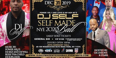 NYC DJ Self Made New Year's Eve 2020 Ball tickets