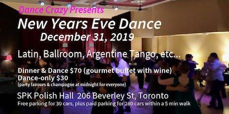 NEW YEARS EVE DANCE (Latin, ballroom, Argentine Tango, etc..) Dec 31, 2019 tickets