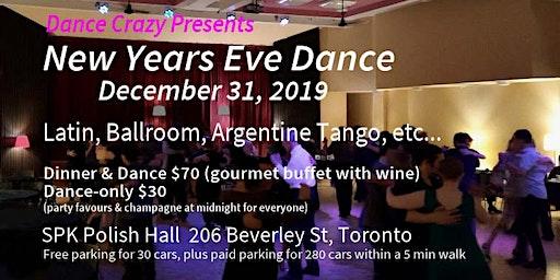 NEW YEARS EVE DANCE (Latin, ballroom, Argentine Tango, etc..) Dec 31, 2019