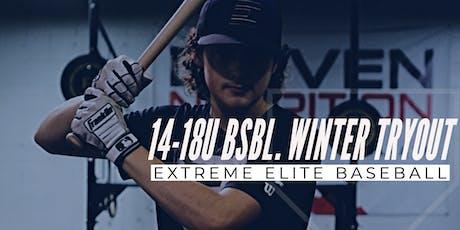 14-18U Baseball Winter Tryout tickets