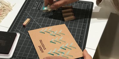 Block Printing Holiday Cards