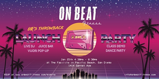 On Beat Fitness - 80's Throwback Launch Party