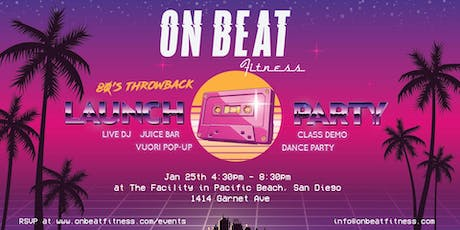 On Beat Fitness - 80's Throwback Launch Party tickets