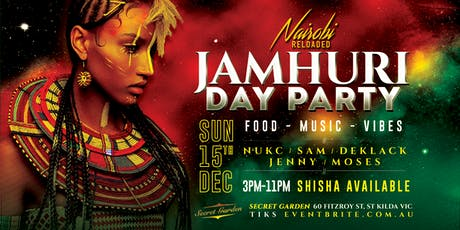 Jamhuri Day Celebrations DAY PARTY tickets