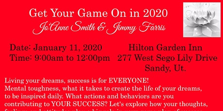 """GET YOUR GAME ON IN 2020"" W/JO'ANNE SMITH & GUEST JIMMY FARRIS FORMER SUPERBOWL CHAMPION tickets"