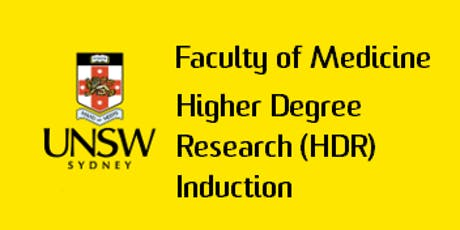 2020 Term 3 Faculty of Medicine HDR Induction tickets