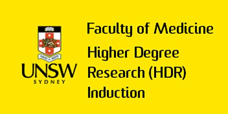 2020 Term 1 Faculty of Medicine HDR Induction tickets