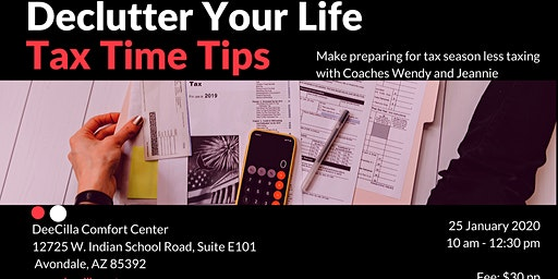Declutter Your Life: Tax Time Tips