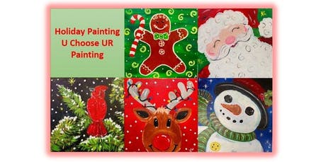 Holiday Painting - U Choose UR 12x12 Painting (2019-12-08 starts at 3:00 PM) tickets