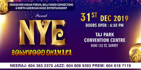 Bollywood Dhamaka - New Year's Eve 2020 Party in Surrey tickets