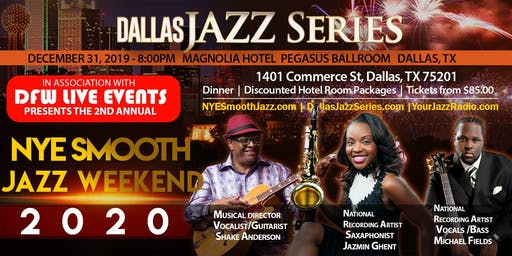 NYE Smooth Jazz Dallas 1 2-31-19. Jazmin Ghent, Michael Fields, & Shake
