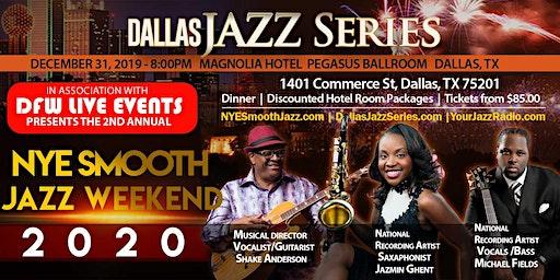NYE Smooth Jazz Dallas 1 2-31-19. Jazmin Ghent, Michael Fields, & Shake