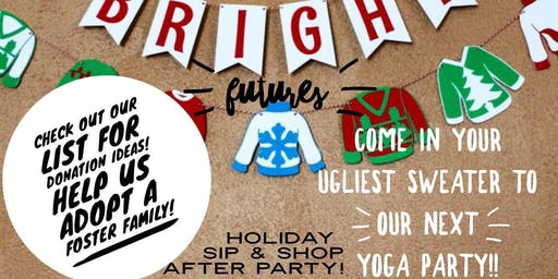 Ugly Sweater Yoga party