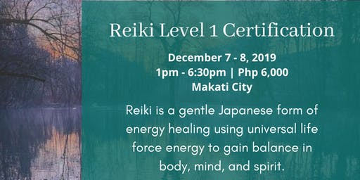 Reiki Level 1 Certification Class with Nathan Alba