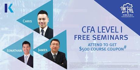 CFA Level I  Seminar (*CEF Course) tickets